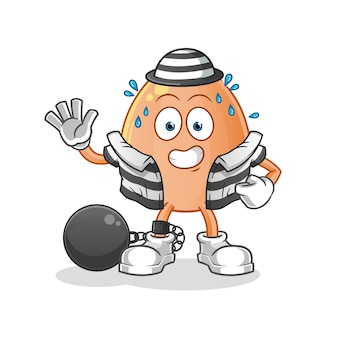Ilustracja karnego jajko