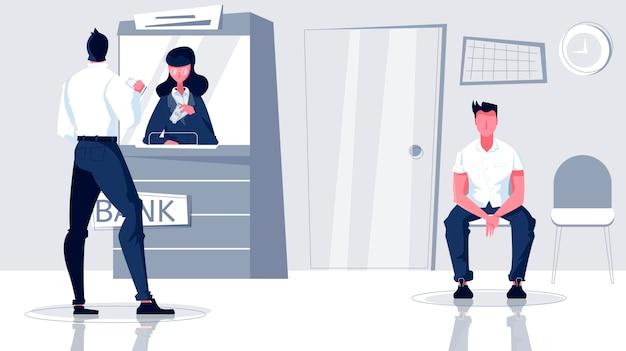 Ilustracja kasjera banku
