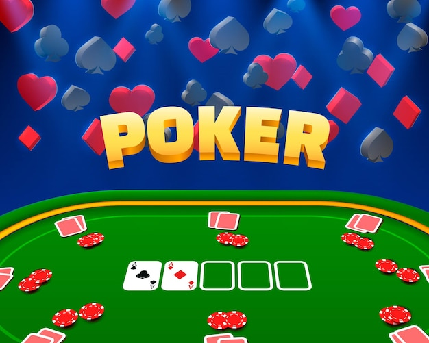Ilustracja kasyno żetony i karty do pokera.