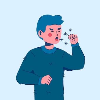 Ilustracja kaszel osoby
