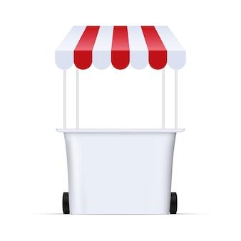 Ilustracja kiosku rynku żywności