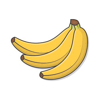 Ilustracja kiść bananów.