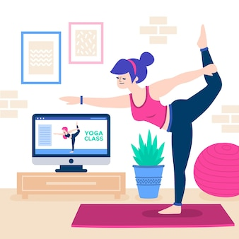 Ilustracja klasy jogi online