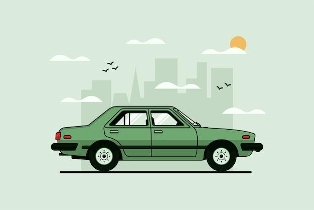 Ilustracja klasycznego samochodu