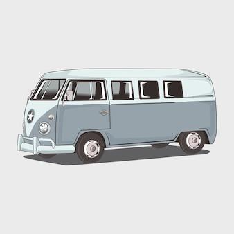 Ilustracja klasyczny amper van