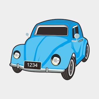 Ilustracja klasyczny samochód chrząszcz