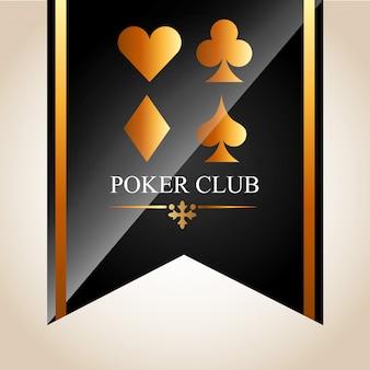 Ilustracja klubu pokerowego