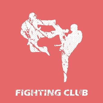Ilustracja klubu walki. obraz w stylu kreatywnym i sportowym