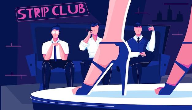 Ilustracja klubu ze striptizem