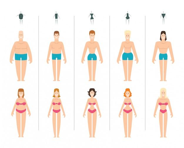 Ilustracja kobiecego ciała.
