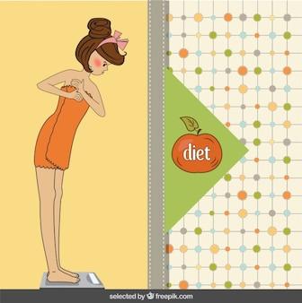 Ilustracja kobieta zdrowy tryb życia