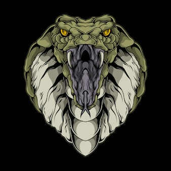 Ilustracja kobra królewska