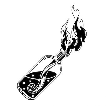 Ilustracja koktajl mołotowa