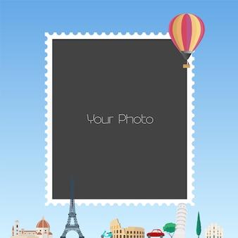 Ilustracja kolaż ramki na zdjęcia