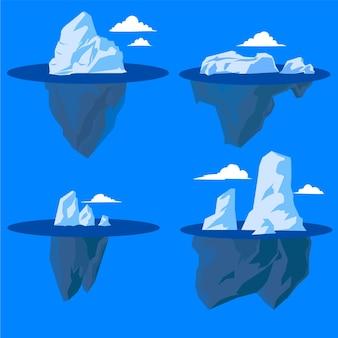 Ilustracja kolekcji góry lodowej
