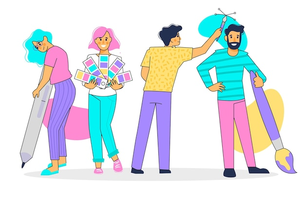 Ilustracja kolekcji projektantów