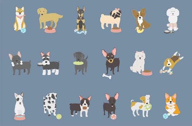 Ilustracja kolekcji psów