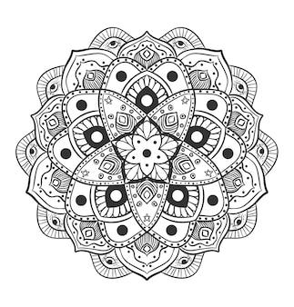 Ilustracja koło mandali ornament