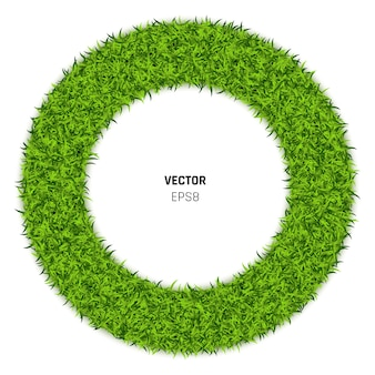 Ilustracja koło zielonej trawy