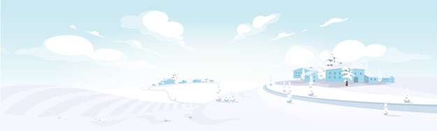 Ilustracja kolor zima w toskanii