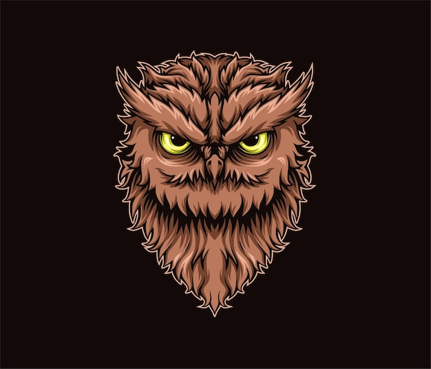 Ilustracja kolorowa agresywna sowa