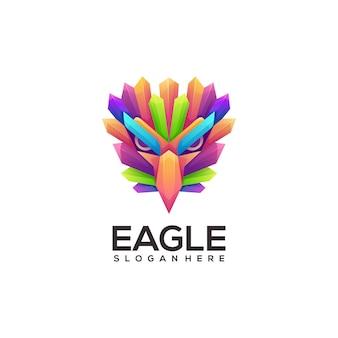 Ilustracja kolorowe logo orła