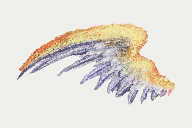 Ilustracja kolorowe skrzydła mityczne