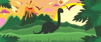 Ilustracja kolorowy dinozaur