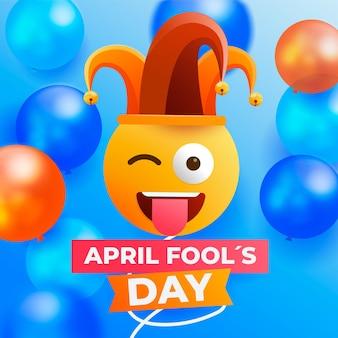 Ilustracja kolorowy realistyczny prima aprilis