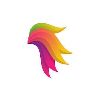 Ilustracja kolorowy streszczenie kogut projekt