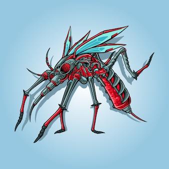 Ilustracja komara cyborga