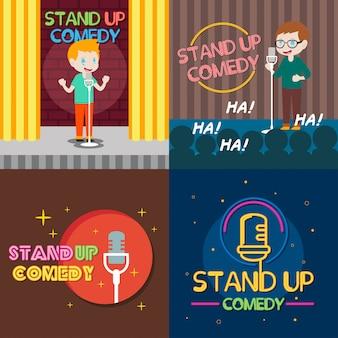Ilustracja komedii stand up