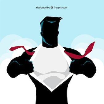 Ilustracja komiks superhero w klatce piersiowej