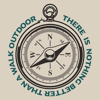 Ilustracja kompasu na białym tle.