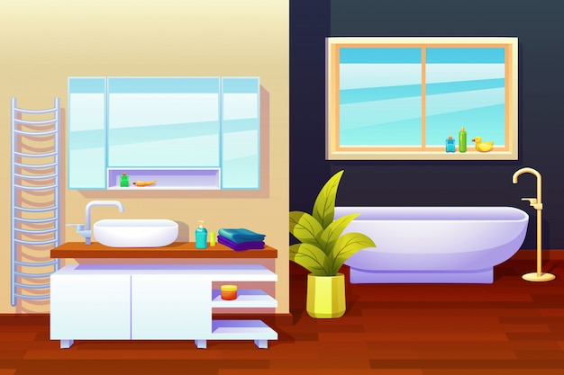 Ilustracja kompozycja wnętrz łazienki