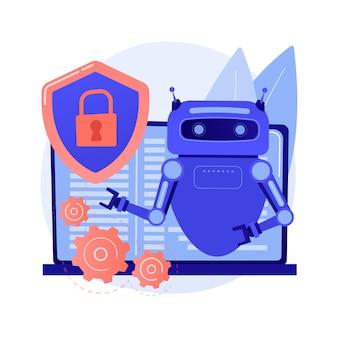 Ilustracja koncepcja abstrakcyjna cyberbezpieczeństwa przemysłowego