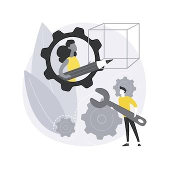 Ilustracja koncepcja abstrakcyjna działań stem.