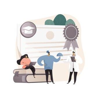 Ilustracja koncepcja abstrakcyjna edukacji zawodowej
