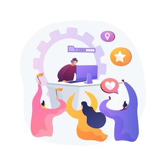 Ilustracja koncepcja abstrakcyjna fanów e-sportu