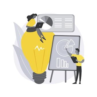 Ilustracja koncepcja abstrakcyjna inteligencji konkurencyjnej.