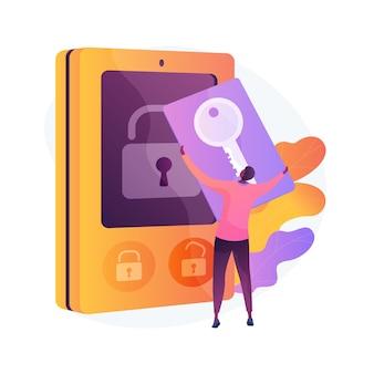 Ilustracja koncepcja abstrakcyjna karty dostępu bezpieczeństwa