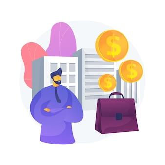Ilustracja koncepcja abstrakcyjna podatku od osób prawnych