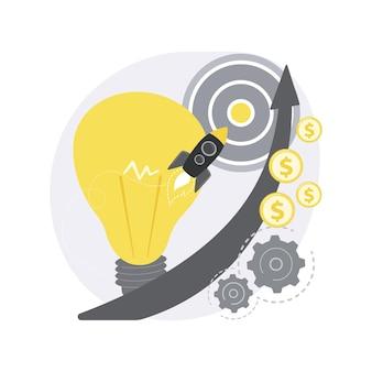Ilustracja koncepcja abstrakcyjna startup.