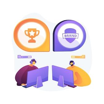 Ilustracja koncepcja abstrakcyjna współpracy e-sportowej