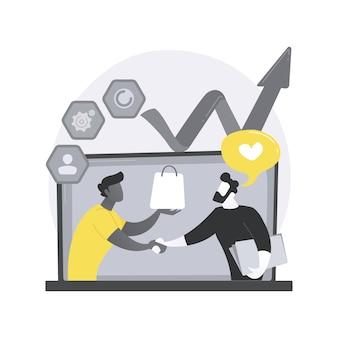 Ilustracja koncepcja abstrakcyjna zarządzania relacjami z klientami.