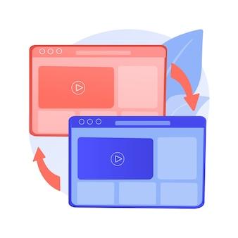 Ilustracja koncepcja abstrakcyjna zgodności między przeglądarkami