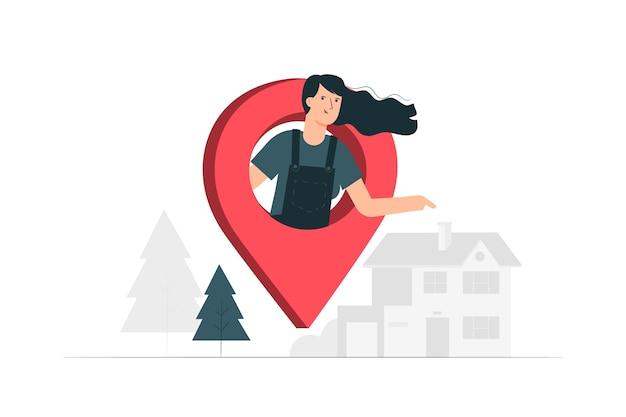 Ilustracja koncepcja adresu