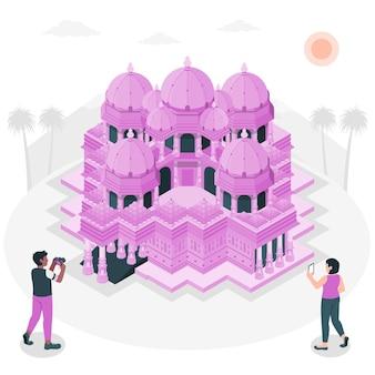 Ilustracja koncepcja ahmedabad
