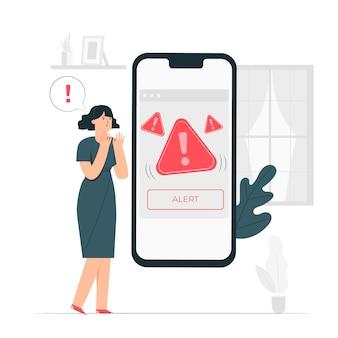 Ilustracja koncepcja alertu