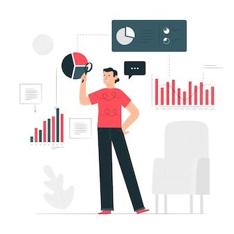 Ilustracja koncepcja analityki biznesowej